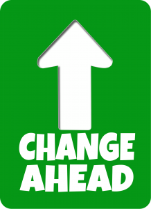 Changes Ahead - arrow pointing indicates changes are ahead