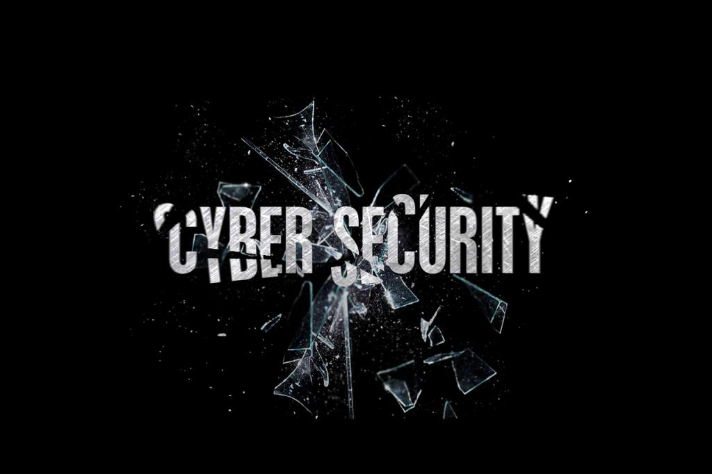 cybersecurity word art