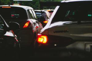 driver-assistance technologies -- cars stuck in traffic, kept in their lanes by driver -assistance technologies