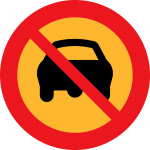 No-Driving sign - what if a car crashed into your house?